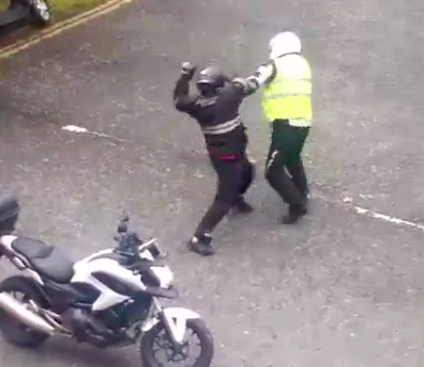 Video: Violence breaks out between two motorcyclists in Joppa