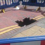 Sinkhole opens up near Haymarket