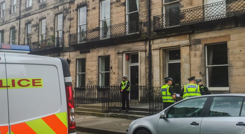 Man dies after being found injured on Fettes Row