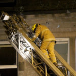 Fifty firefighter's tackle blaze at Lower Granton Road flat