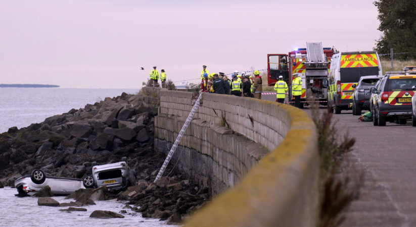 Two cars discovered in the sea at Granton