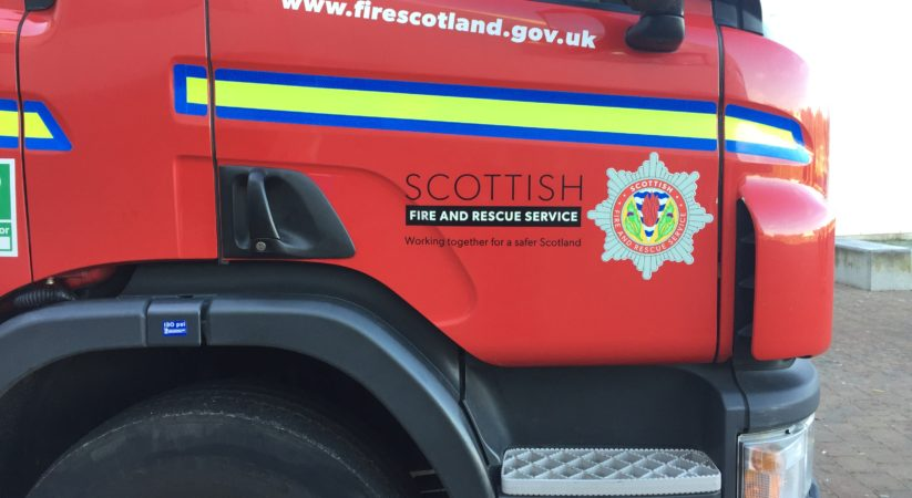 Man critical following Drylaw fire.