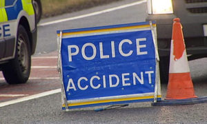 Four casualties have been taken to hospital after a four-car crash in Midlothian.