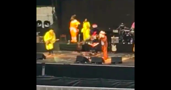 VIDEO: Paolo Nutini sings on stage dressed as a Tiger as he rehearses for Hogmanay double-header