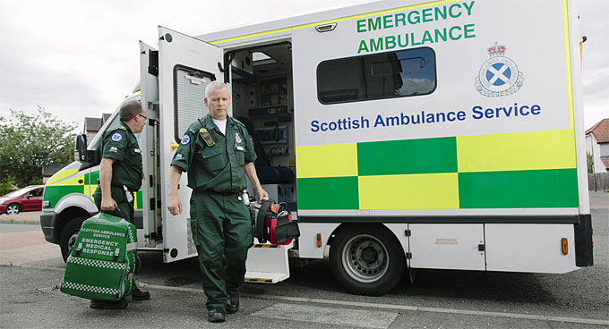 Man who stole a Scottish Ambulance Services defibrillator is JAILED