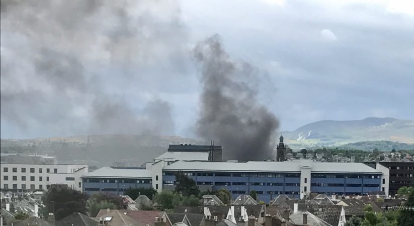 BREAKING: Fire at old Victoria Hospital