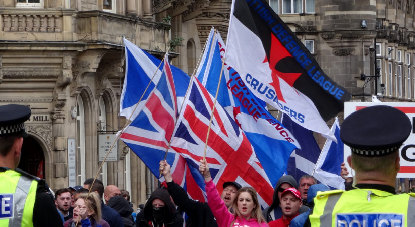 Scottish Defence League hold anti-terrorism rally in Edinburgh