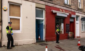 Police in attendance at Trafalgar Street following incident
