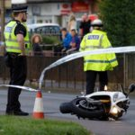 Police search collision site following Ferry Road hit and run