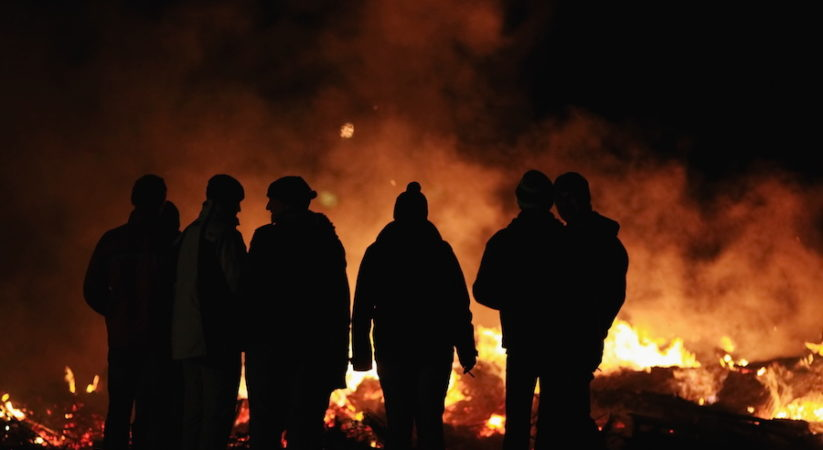 Men convicted for Bonfire Night disorder