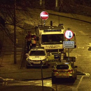 VIDEO: Bomb Disposal experts carry out controlled explosion following suspicious package discovery