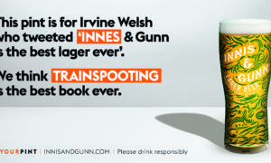 Innis and Gunn lager fans put in the spotlight