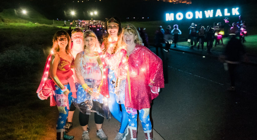 Thousands take part in Edinburgh Moonwalk