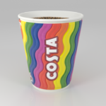Costa displays rainbow cups to celebrate Pride parade