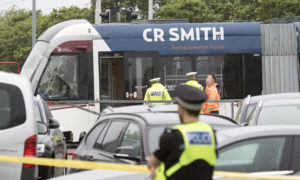 Police issue appeal following collision between bus and tram near Airport