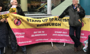 VIDEO: Man arrested during Steve Bannon protest in Edinburgh today