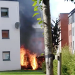 VIDEO: Fire at Redrow in north Edinburgh