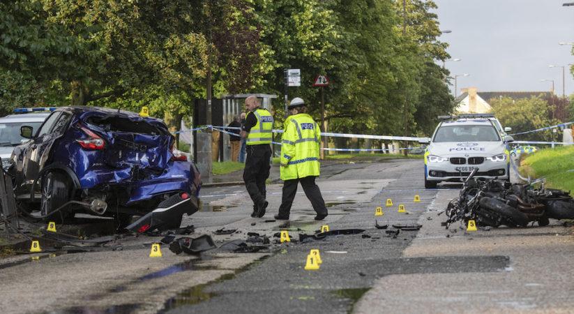 'Stolen motorbike' involved in Muirhouse collision
