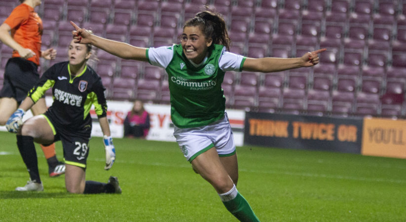 Hibs striker named SWPL 'Player of the Year'